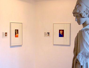 Ausstellungssituation Vorbilder-Bildzitate